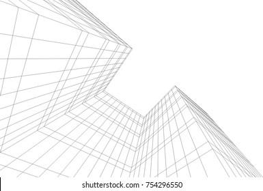 architecture 3d concept