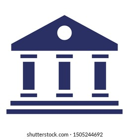 Architecture, bank isolated Vector Icon which can easily modify or edit