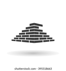 Architecture  and Buildin, brick logo design concept on a white background, vector illustration
