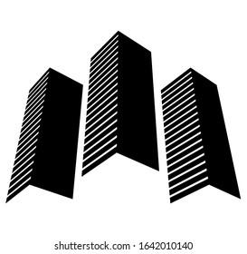 architecture building icon concept logo vector illustration