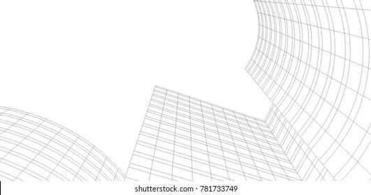 architecture building vector