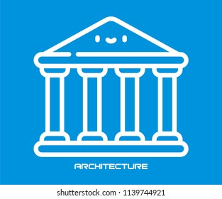 ARCHITECTURE BUILDING VECTOR ICON DESIGN
