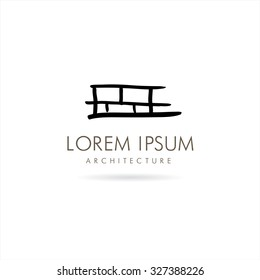 Architecture and Building. Vector logo concept design