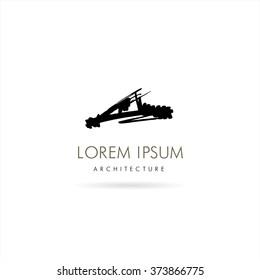Architecture and Building. Vector logo concept design
