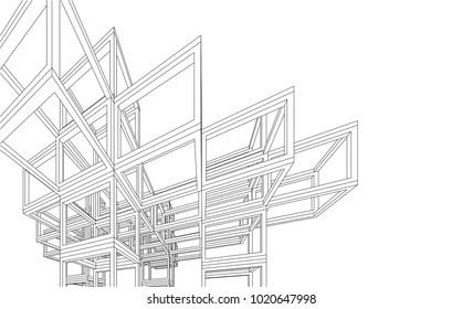 architecture construction 3d