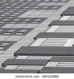 Architecture design gray background vector illustration building
