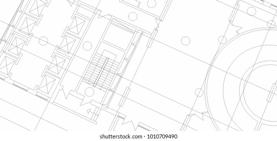 architecture drawing vector