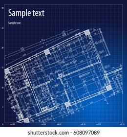 Architecture grid blueprint background sample