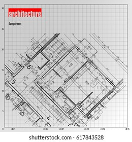 Architecture grid blueprint background sample