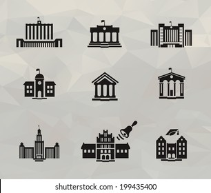 Architecture icons. Vector format