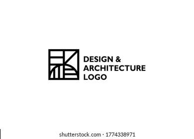 Architecture logo design vector illustration