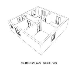 architecture model showing an apartment