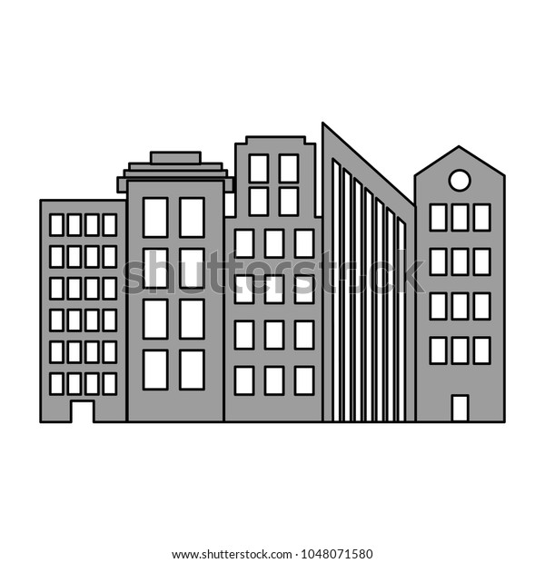 Architecture Modern Buildings City Design Stock Vector (Royalty ...