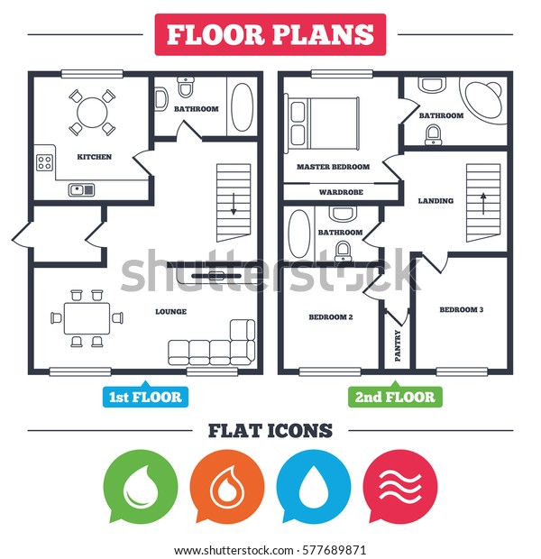 Architecture Plan Furniture House Floor Plan Stock Vector (Royalty on