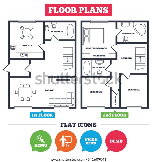 Architecture Plan Furniture House Floor Plan | People, Signs ... on