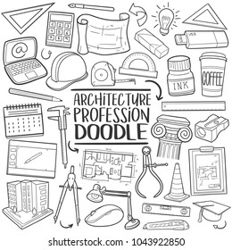 Architecture Traditional Doodle Icons Sketch Hand Made Design Vector