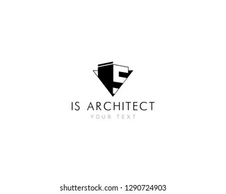 Architecture traingle abstract vector template. Corporate business Logotype monogram. Black and white logo design with geometric traingle