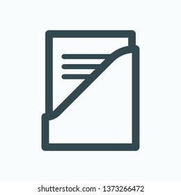 Archive binder isolated icon, archival binder outline vector icon