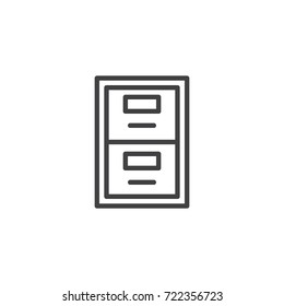 Archive box line icon, outline vector sign, linear style pictogram isolated on white. Symbol, logo illustration. Editable stroke