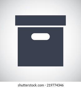 Archive box storage symbol icon. Vector pictogram. Simple flat metro design style. esp10