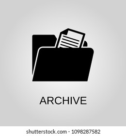 Archive icon. Archive symbol. Flat design. Stock - Vector illustration