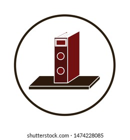 archive shelf icon. flat illustration of archive shelf vector icon. archive shelf sign symbol