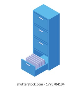Archive storage document icon. Isometric of archive storage document vector icon for web design isolated on white background