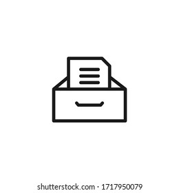 Archive storage icon design isolated on white background. Vector illustration