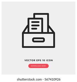 Archive vector icon
