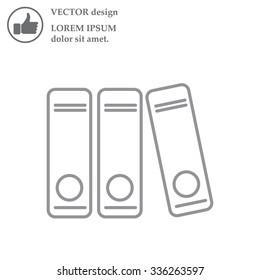 Archives folder line icon