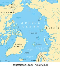 Arctic Circle On World Map.Arctic Circle Map Images Stock Photos Vectors Shutterstock