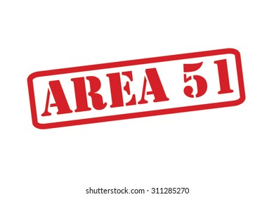 AREA 51 red Rubber Stamp Vector over a white background.