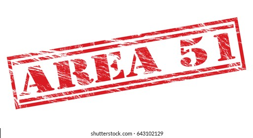 area 51 red vector stamp on white background