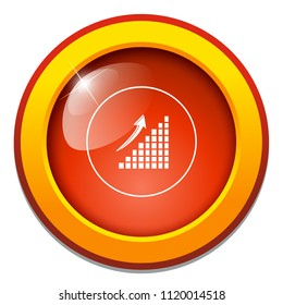 Area chart flat icon - chart, bar graph,  business arrow up