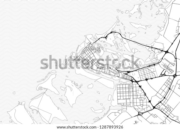 Area Map Abu Dhabi United Arab Stock Vector (Royalty Free