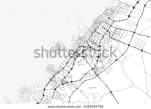 Area Map Dubai United Arab Emirates Stock Vector (Royalty Free ... Dubai Geography Map on