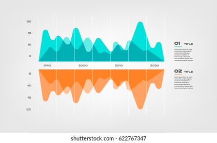 Area sound diagram elements color infographics. Some of chart, graph, parts, processes. Vector business template for presentation. Can be used for workflow layout, diagram, banner, web design