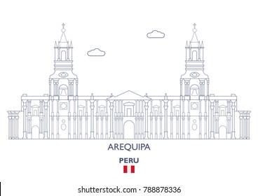 Arequipa City Skyline, Peru