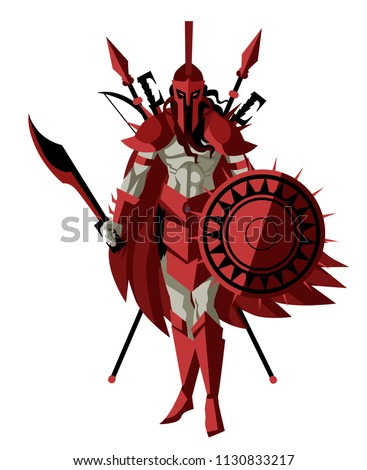 Ares Mars Greek Mythology God War Stock Vector Royalty Free