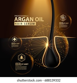 argan oil hair care protection illustration
