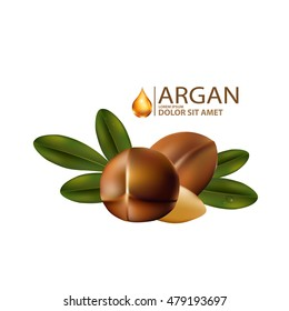 argan oil Serum and Background Concept Skin Care Cosmetic.