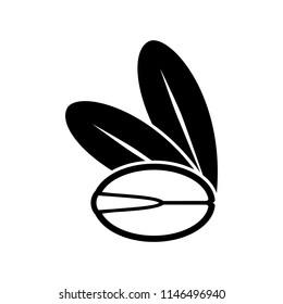 Argan Oil Tree Seed Icon. Vector Illustration.