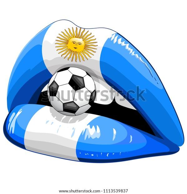 Argentina Flag Lipstick Soccer Supporters