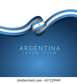 Argentina Flag Ribbon : Vector Illustration