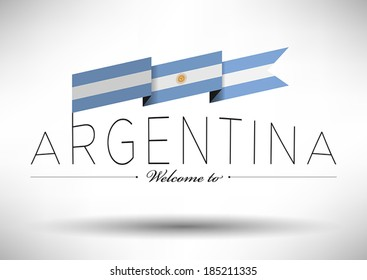Argentina Flag with Typography Design