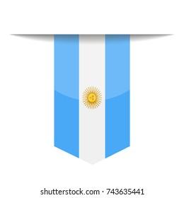 Argentina Flag Vector Bookmark Icon - Illustration