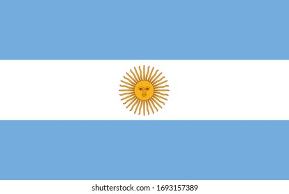 ARGENTINA HEART FILLED FLAG South America Themed Baby Grow Argentinian