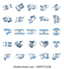 Argentina flag, vector illustration