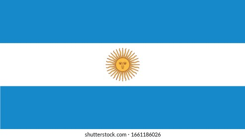 Argentina Flag Vector - Official Argentina Flag With Original Color and Size Proportion