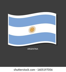 Argentina flag Vector waving with flags.